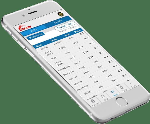 Mobil online tidsregistrering
