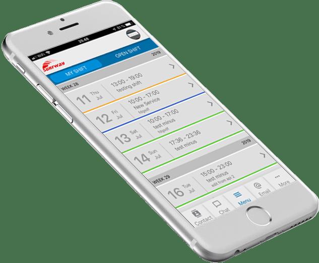 Mobil online vagtplan